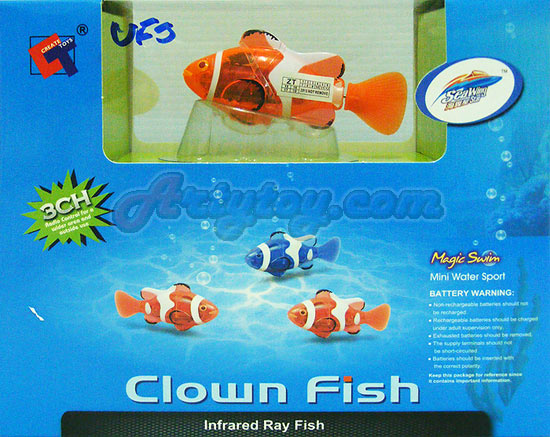 Clown Fish RC (MUFT) ปลาการ์ตูนบังคับวิทยุ สามารถว่ายในตู้ปลาได้เหมือนจริง  แปลกใหม่น่าเล่นสุดๆ