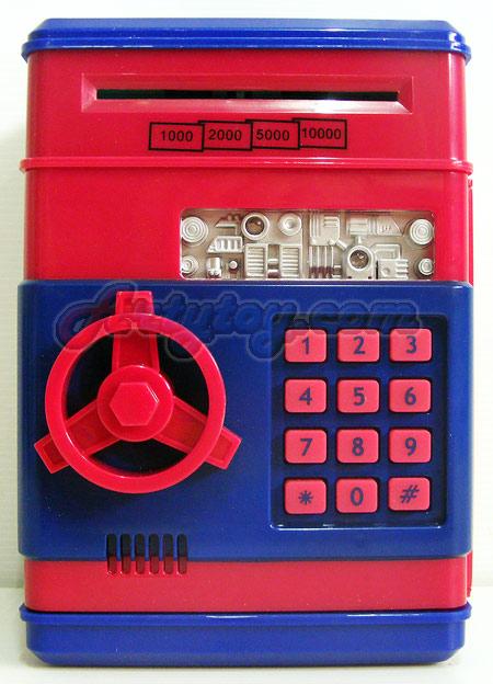 กระปุกออมสินตู้เซฟ (INB) ดีไซน์สวยงาม และใช้งานง่าย สามารถใส่ได้ทั้งเหรียญและแบงค์ ใช้รหัสในการเปิด