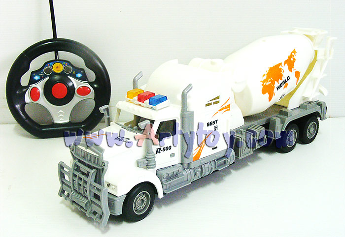 รถบรรทุกโม่ปูน Max Truck (MJNB) บังคับวิทยุไร้สาย แบตชาร์ต มีไฟ