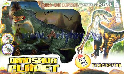 Velociraptor Dinosaur Planet (ZETN) บังคับอินฟราเรด หัวขยับได้ มีเสียง เดินได้เหมือนจริง