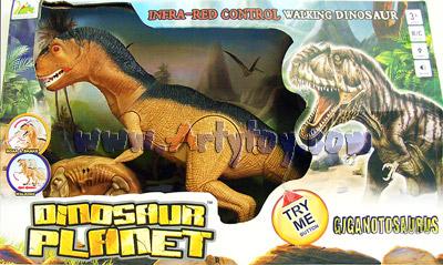 Giganotosaurus Dinosaur Planet (ZETN) บังคับอินฟราเรด หัวขยับได้ มีเสียง เดินได้เหมือนจริง
