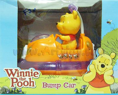 Winnie The Pooh Bump Car (FJN) ใส่ถ่าน วิ่งชนถอย มีไฟ มีเสียง ขยับได้