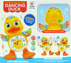 Dancing Duck (FBN) เป็ดน้อยนักเต้น มีไฟ มีเสียง ขยับได้