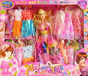 Modern Time(FNB) ตุ๊กตาบาร์บี้พร้อมชุดให้เปลี่ยนเล่นมากมาย ประมาณ 15 ชุด