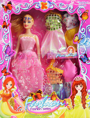 Fashion Series ชุดเล็ก (ZTN) ตุ๊กตาบาร์บี้พร้อมชุดให้เปลี่ยน