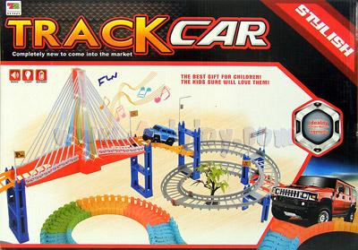 ชุดรถวิ่งราง Track Car (FLN)  เป็นชุดรางรถสะพานแขวน สามารถปรับเปลี่ยนรางได้ตามใจชอบ