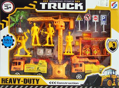 ของเล่นพลาสติกชุดก่อสร้าง Working Power Truck (ZAN)