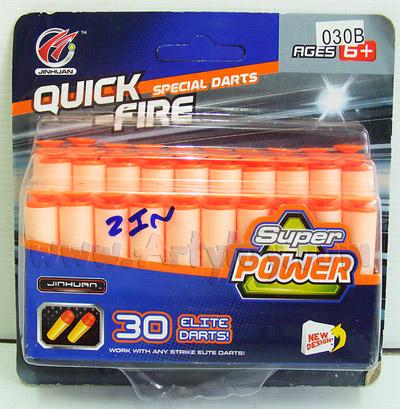 Quick-Fire (ZIN) กระสุนโฟมจุกยาง จำนวน 30 นัด