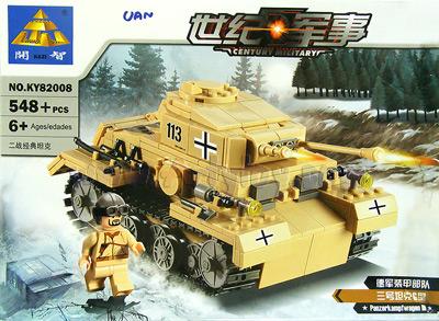 ตัวต่อชุดรถถัง Panzerkampfwagen III  No.KY82008(UAN)   จำนวน 548+ ชิ้น งานสวยมากๆ