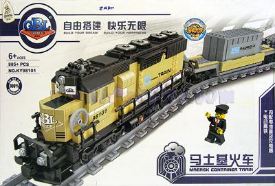 รถไฟตัวต่อ KY98101 (ZAPN) เพลิดเพลินในการต่อและวิ่งได้จริง มีไฟมีเสียง