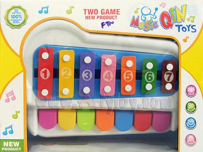 Music Qin toys (FTN)  เครื่องดนตรี 2 in 1  สามารถเล่นแบบระนาด และ เปียโนได้