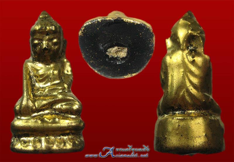 พระอุปคุตหรือพระบัวเข็ม เนื้อผงลงรักปิดทองแท้ องค์เล็ก 1