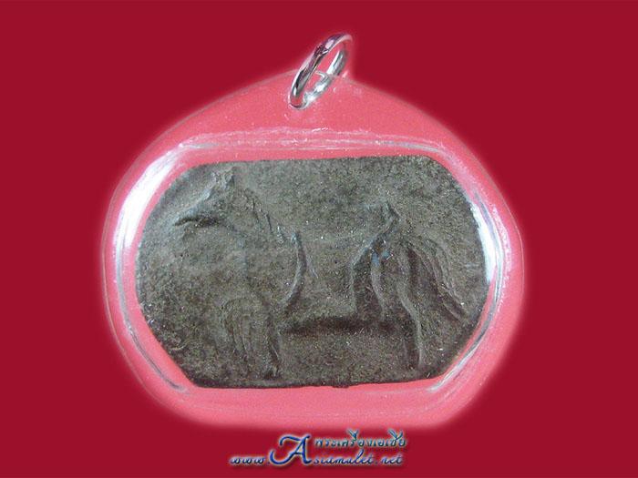 ม้าเสพนาง ครูบาวัง หลังมีจารยันต์ตาราง (จารสด)