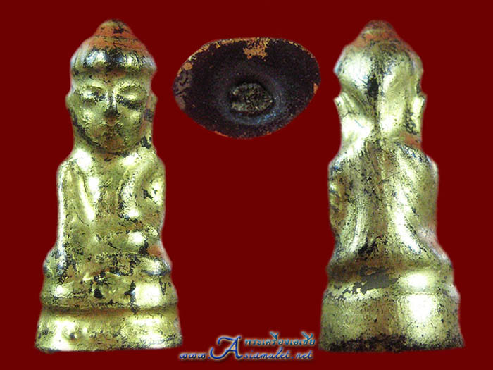 พระอุปคุตหรือพระบัวเข็ม เนื้อผงลงรักปิดทองแท้ องค์เล็ก 2
