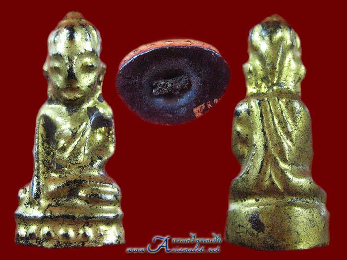 พระอุปคุตหรือพระบัวเข็ม เนื้อผงลงรักปิดทองแท้ องค์เล็ก 4