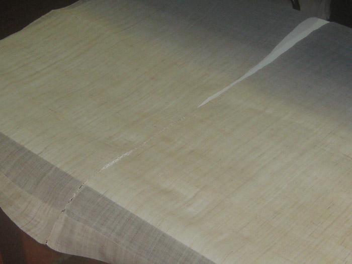 ผ้าใยกัญชง สีทูโทน เหลือง, น้ำเงิน ขนาดความกว้าง 85 ซม. x ความยาว 150 ซม.