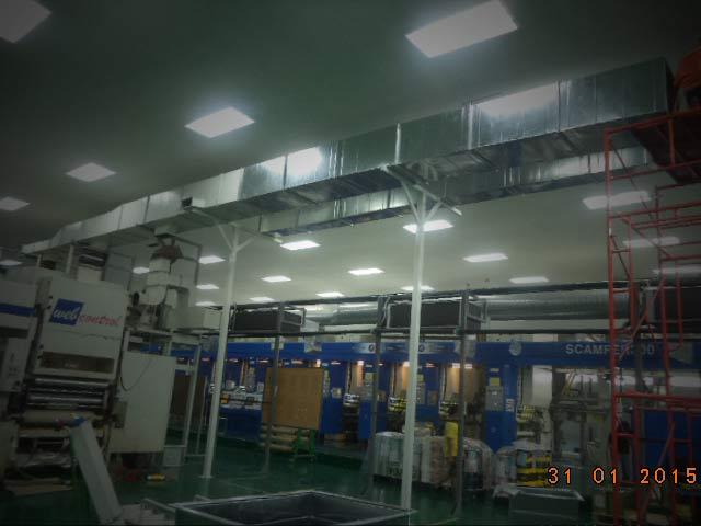 งานผลิต ติดตั้งท่อดักท์ EXHAUST เครื่องจักรพิมพ์  บมจ.นิปปอนแพ็ค (ประเทศไทย)