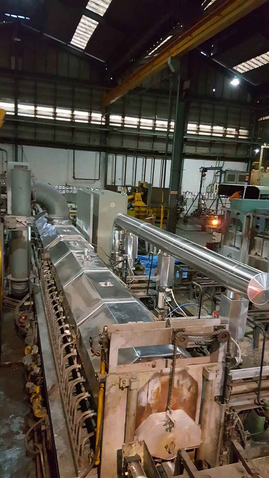 งานหุ้มฉนวนกันความร้อนเครื่องจักรอุตสาหกรรม หน้างานโกลด์สตาร์