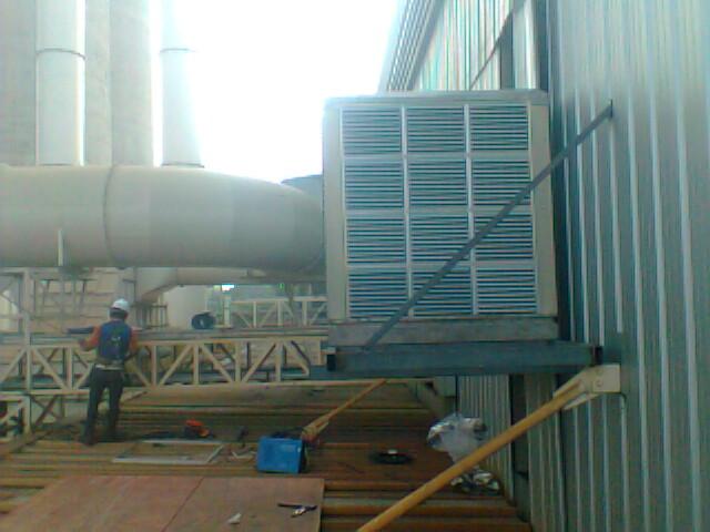 พัดลมไอเย็น Evap หน้างาน บจก. นวโลหะ จ.สระบุรี