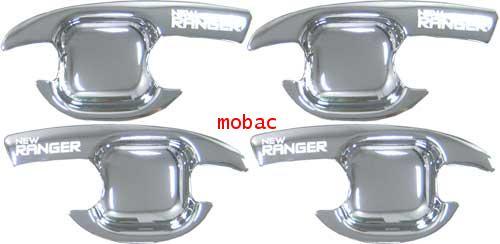 Ford Ranger 2006 เบ้ามือเปิด 4 ประตู สีชุบ ยี่ห้อ Lekone (4 ชิ้น )