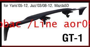 สปอยเลอร์ SPOILER ติดรถ GT-1 = YARIS 05-12, JAZZ 03/08-12, MAZDA 5D