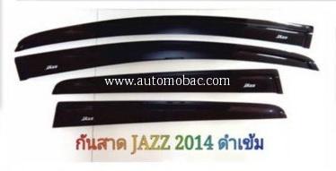 HONDA JAZZ 2014 กันสาด สีดำเข้ม มีสกรีน Jazz