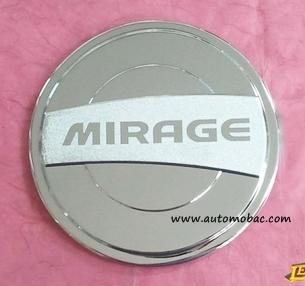 Mitsubishi MIRAGE ครอบฝาถังน้ำมัน สีชุบโครเมี่ยม ยี่ห้อ Lekone