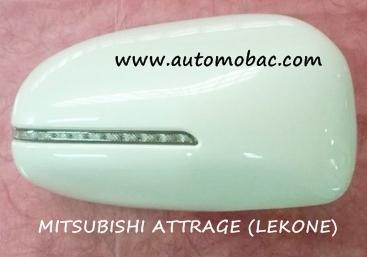 MITSUBISHI ATTRAGE ครอบกระจกมองข้าง มีไฟ LEKONE สีตามตัวรถ