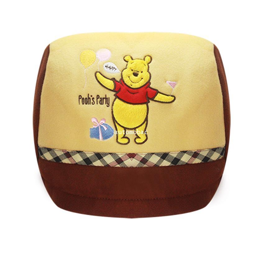 Pooh DS 02 ใช้หุ้มหัวเบาะรถยนต์ ปกป้องเบาะรถจากความร้อน กันเปื้อน งานลิขสิทธิ์แท้ ใส่ได้กับรถทุกรุ่น