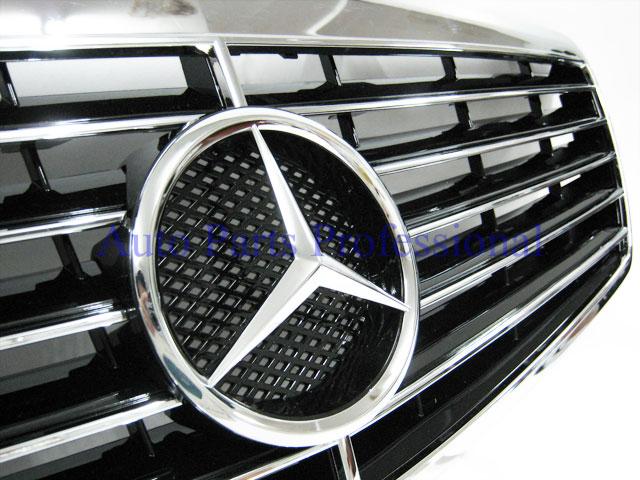 Auto Pro. กระจังหน้าสปอร์ตสีดำพร้อมกรอบโครเมี่ยมรถเบนซ์ W211 รุ่น 4 ประตู E200 E220 E320 E350 E500 E