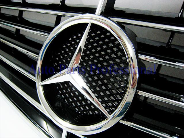 Auto Pro. กระจังหน้าสปอร์ตสีดำพร้อมกรอบโครเมี่ยมรถเบนซ์ W211 รุ่น 4 ประตู E200 E220 E320 E350 E500 E 3