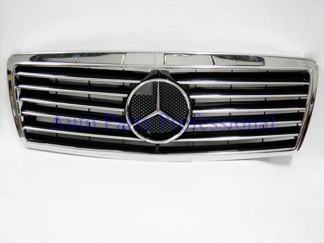 Auto Pro. กระจังหน้าสปอร์ตสีดำพร้อมกรอบโครเมี่ยมรถเบนซ์ W202 รุ่น 4 ประตู C220 C230 C280 C36 AMG
