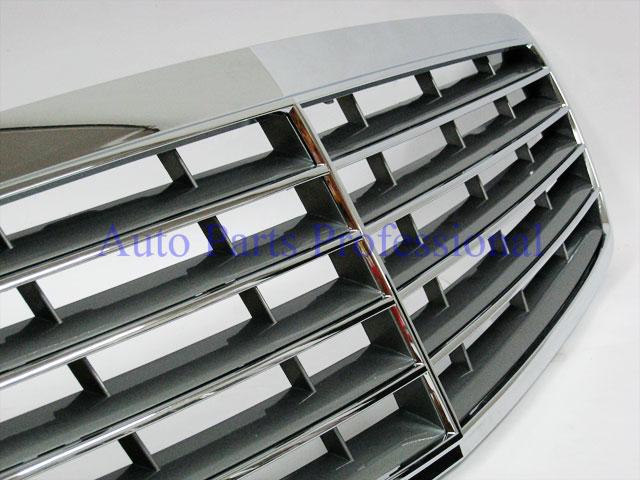 Auto Pro. กระจังหน้าสีเงินพร้อมกรอบโครเมี่ยมรถเบนซ์ AMG W211 รุ่น 4 ประตู E200 E220 E320 E350 E500