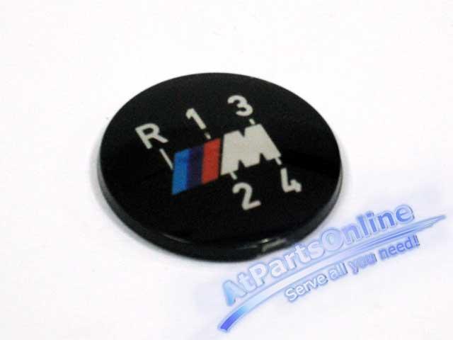Auto Pro. โลโก้สัญลักษณ์ M-Technic สำหรับด้ามเกียร์ธรรมดา 4 จังหวะ BMW E30 316 318i 320i 323i 325i M
