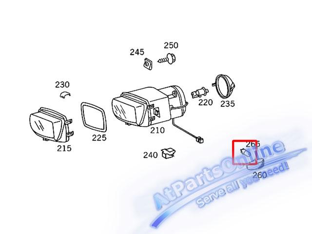 Auto Pro. ชุดหลอดไฟหรี่บังโกลน(หลอดใส) รถเบนซ์ Mercedes W124 W129 W140 W202 W204 W208 W209 W210 W221 6