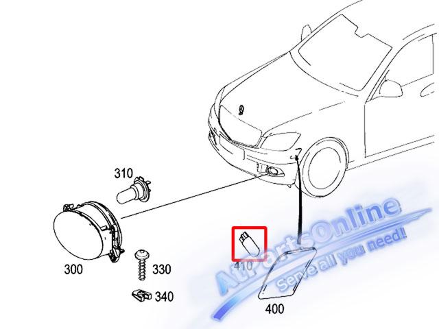 Auto Pro. ชุดหลอดไฟหรี่บังโกลน(หลอดใส) รถเบนซ์ Mercedes W124 W129 W140 W202 W204 W208 W209 W210 W221 8