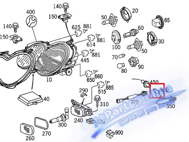 Auto Pro. ชุดหลอดไฟหรี่บังโกลน(หลอดใส) รถเบนซ์ Mercedes W124 W129 W140 W202 W204 W208 W209 W210 W221 9