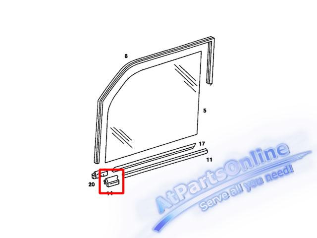 Auto Pro. กิ๊ปล็อคยางรีดน้ำขอบกระจกประตู สำหรับรถเบนซ์ Mercedes-Benz W123 200 200D 230 230E 230TE 24 3