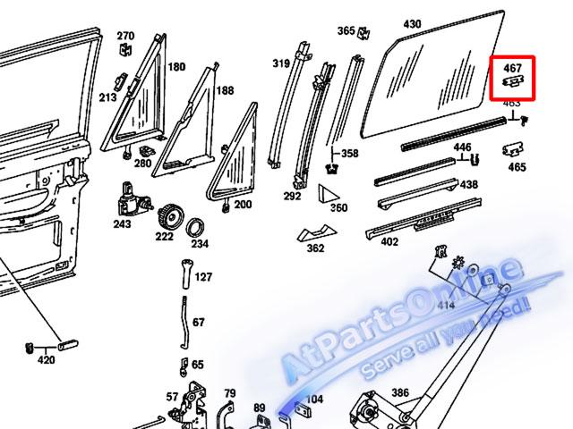 Auto Pro. กิ๊ปล็อคยางรีดน้ำขอบกระจกประตูด้านนอก สำหรับรถเบนซ์ Mercedes-Benz W108 W109 W114/8 W115 20 3