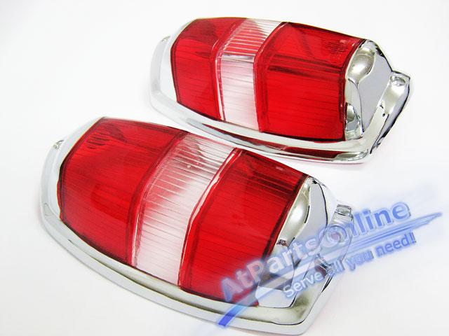 Auto Pro. เลนส์ไฟท้าย แดง-แดง รถเบนซ์คลาสิคท้ายมน Ponton Mercedes-Benz W121 190 190D 190SL