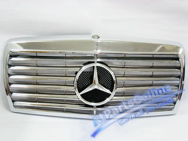 Auto Pro. กระจังหน้าสปอร์ตโครเมี่ยม ดาวกลาง Entire Chrome Star Type รถเบนซ์ Mercedes-Benz W126