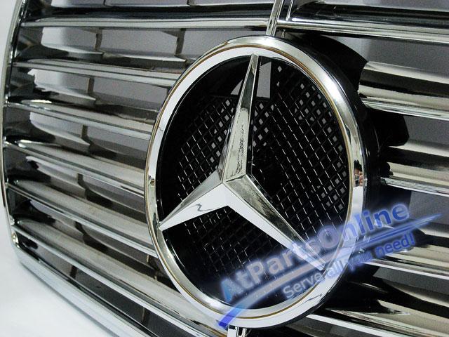 Auto Pro. กระจังหน้าสปอร์ตโครเมี่ยม ดาวกลาง Entire Chrome Star Type รถเบนซ์ Mercedes-Benz W126 4