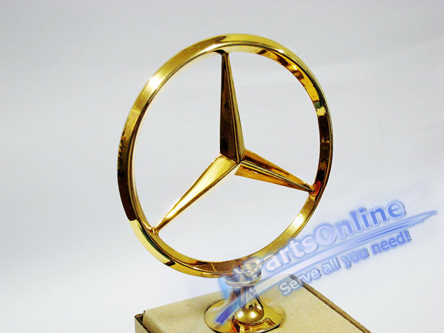 Auto Pro. ดาวฝากระโปรงหน้า โลโก้สัญลักษณ์ชุดทองรถเบนซ์ Mercedes-Benz W114/8 W115 200 220 200D 230.4