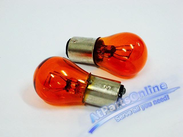 Auto Pro. หลอดไฟเลี้ยวสีส้ม 2 ไส้ รถเบนซ์ Mercedes-Benz W107 W123 W124 W126 W129 W140 W201 W202 C-Cl