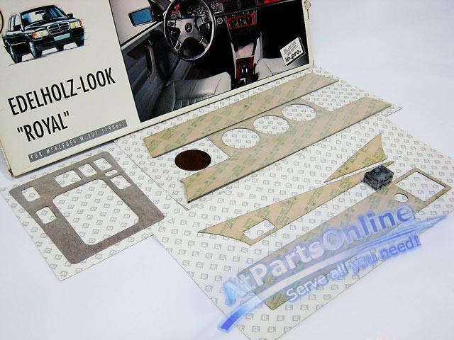 Auto Pro. ชุดลายไม้แผงคอนโซลกลาง Royal Burl รถเบนซ์ Mercedes-Benz W201 190 190D 190E 1.8 2.0 2.3 2.5