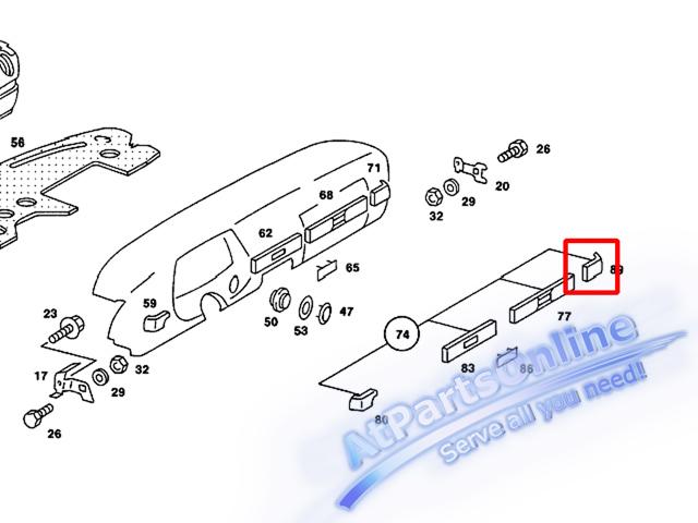 Auto Pro. ชุดลายไม้แผงนวมหน้าปัดด้านมุมขวา Zebrano รถเบนซ์ Mercedes-Benz W123 200D 230CE 240D 300D 4