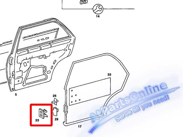 Auto Pro. กิ๊ปล็อคยางประตู สำหรับรถเบนซ์คลาสสิค Mercedes-Benz 220 230 240D 250D 300D 230E 280E 300TD 5