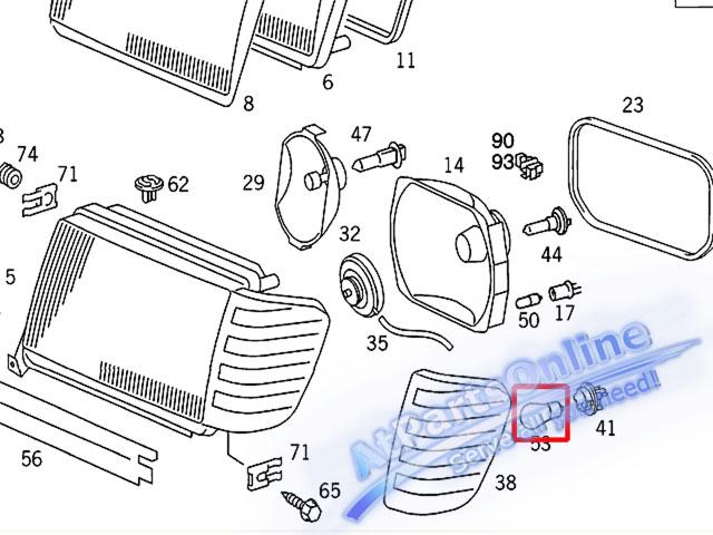 Auto Pro. หลอดไฟเลี้ยวสีส้ม สำหรับรถเบนซ์ Mercedes-Benz W107 W123 W124 W126 W129 W140 W201 W202 C-Cl 5