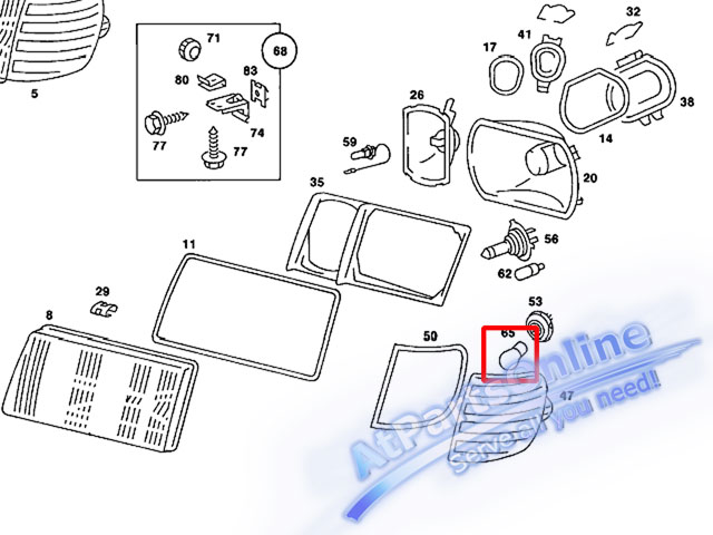 Auto Pro. หลอดไฟเลี้ยวสีส้ม สำหรับรถเบนซ์ Mercedes-Benz W107 W123 W124 W126 W129 W140 W201 W202 C-Cl 6
