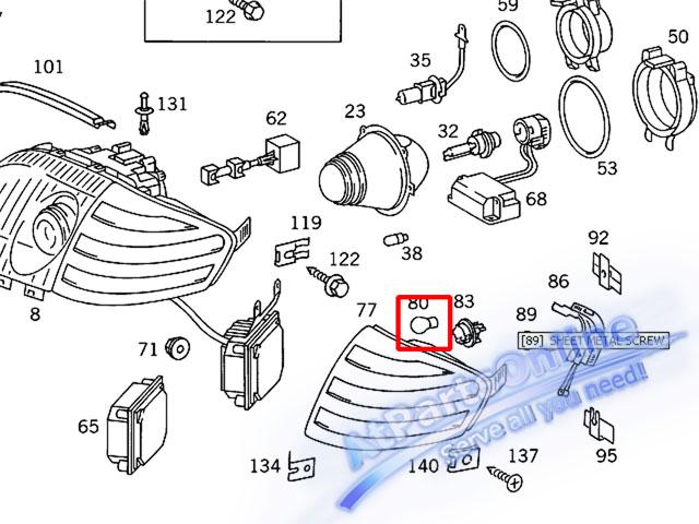 Auto Pro. หลอดไฟเลี้ยวสีส้ม สำหรับรถเบนซ์ Mercedes-Benz W107 W123 W124 W126 W129 W140 W201 W202 C-Cl 7